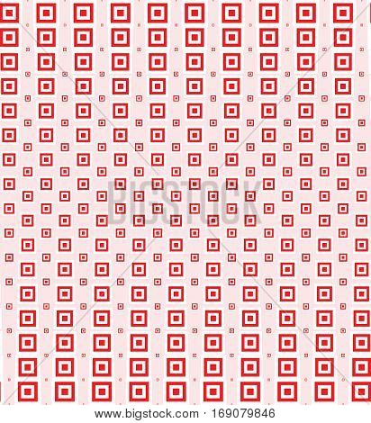 Vector illustration of red seamless pattern with halftone squares.