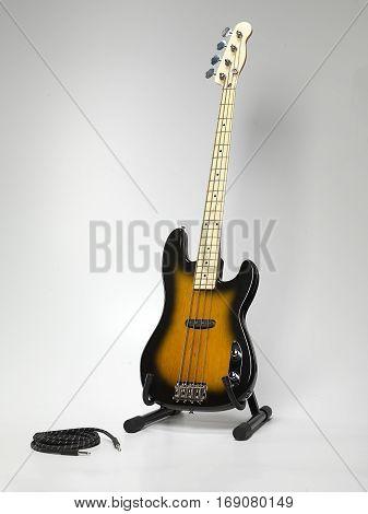 Bas-guitar On Stand.