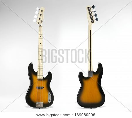Electric Guitar Front View, Rear View.
