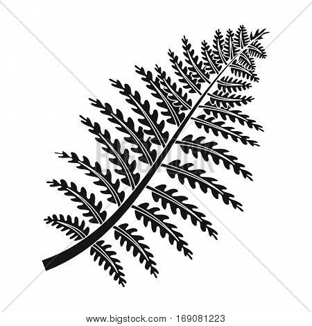 Prehistoric plant icon in black design isolated on white background. Dinosaurs and prehistoric symbol stock vector illustration.