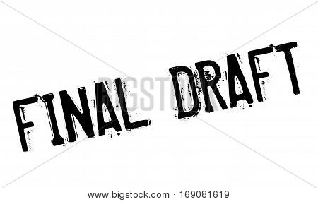 Final Draft rubber stamp. Grunge design with dust scratches. Effects can be easily removed for a clean, crisp look. Color is easily changed.