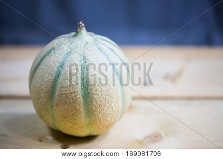 Cantaloupe Melon on wooden background, background  , summer