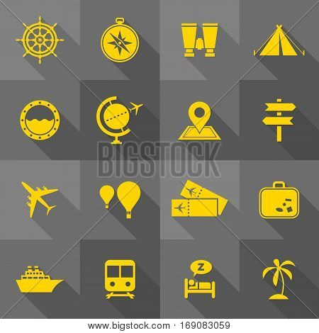 Vector Flat Icon Set - Travel Icons
