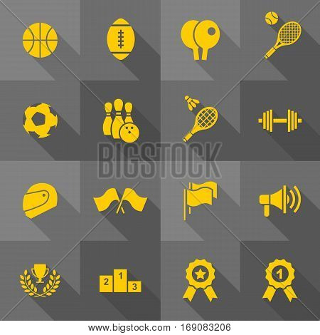 Vector Flat Icon Set - Sport Icons