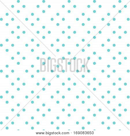 seamless Polka dot background. vector background with blue polka dots