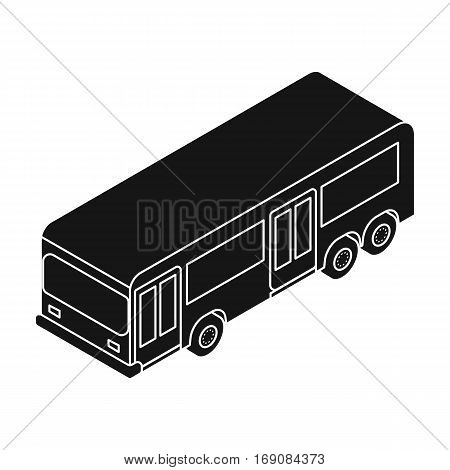 Bus icon in black design isolated on white background. Transportation symbol stock vector illustration.