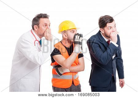 Businessman With Constructor And Medic