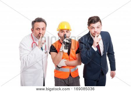 Attractive Medic, Engineer And Businessman