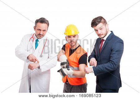Doctor Or Medic, Constructor And Businessman