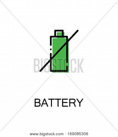 Battery icon. Single high quality outline symbol for web design or mobile app. Thin line sign for design logo. Black outline pictogram on white background