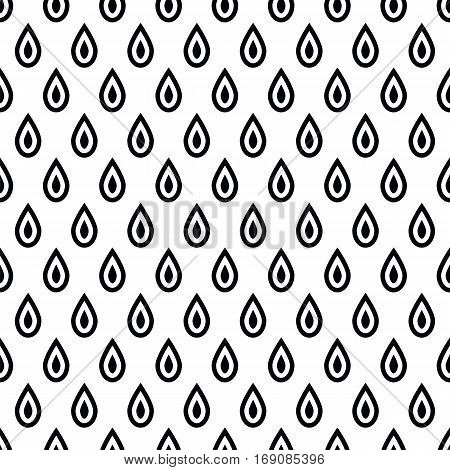 Geometric  Monochrome Abstract Seamless Pattern With Drops