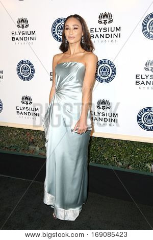 LOS ANGELES - JAN 7:  Cara Santana at the Art of Elysium 10th Annual Black Tie Heaven Gala at Red Studios on January 7, 2017 in Los Angeles, CA