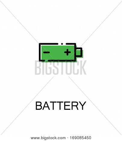 Battery icon. Single high quality outline symbol for web design or mobile app. Thin line sign for design logo. Black outline pictogram on white background