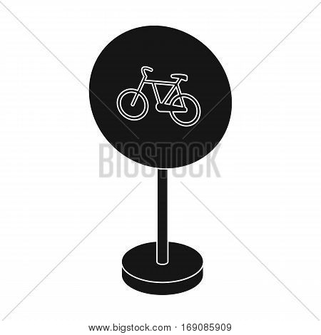 Mandatory road signs icon in monochrome design isolated on white background. Road signs symbol stock vector illustration.