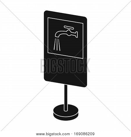 Guide road sign icon in monochrome design isolated on white background. Road signs symbol stock vector illustration.