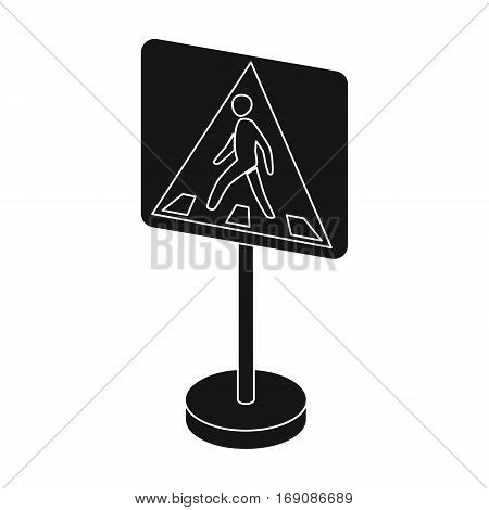 Information road signs icon in monochrome design isolated on white background. Road signs symbol stock vector illustration.