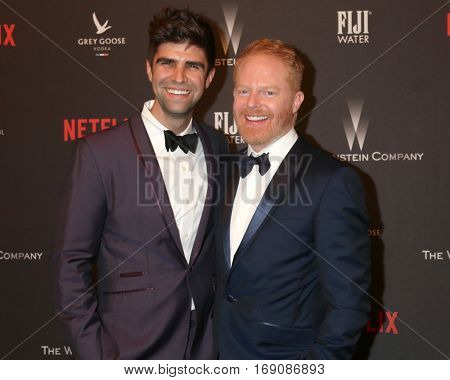 LOS ANGELES - JAN 8:  Justin Mikita, Jesse Tyler Ferguson at the Weinstein And Netflix Golden Globes After Party at Beverly Hilton Hotel Adjacent on January 8, 2017 in Beverly Hills, CA