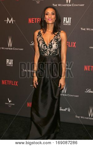 LOS ANGELES - JAN 8:  Annie Ilonzeh at the Weinstein And Netflix Golden Globes After Party at Beverly Hilton Hotel Adjacent on January 8, 2017 in Beverly Hills, CA