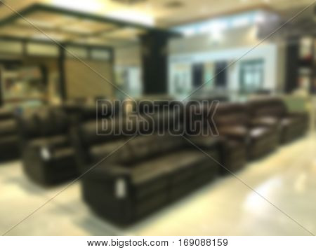 Furniture and sofa store blur background. Furniture and sofa store blur background.