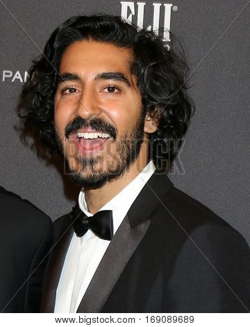 LOS ANGELES - JAN 8:  Dev Patel at the Weinstein And Netflix Golden Globes After Party at Beverly Hilton Hotel Adjacent on January 8, 2017 in Beverly Hills, CA