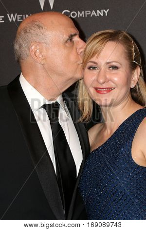LOS ANGELES - JAN 8:  Jeffrey Tambor, Kasia Ostlun at the Weinstein And Netflix Golden Globes After Party at Beverly Hilton Hotel Adjacent on January 8, 2017 in Beverly Hills, CA