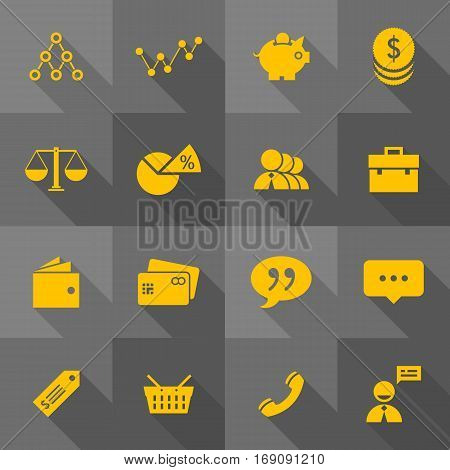 Vector Flat Icon Set - Business Icons