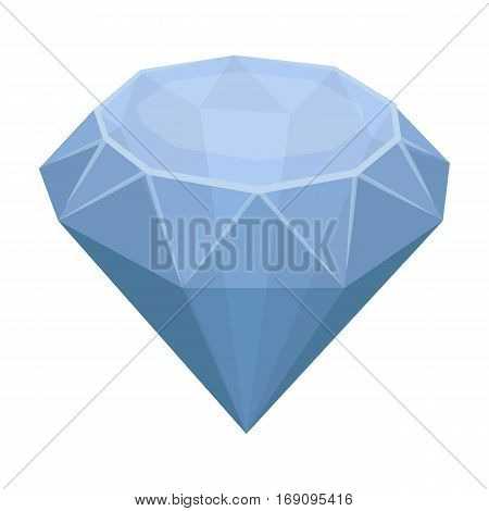 Diamond icon in cartoon design isolated on white background. Precious minerals and jeweler symbol stock vector illustration.