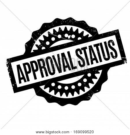 Approval Status rubber stamp. Grunge design with dust scratches. Effects can be easily removed for a clean, crisp look. Color is easily changed.