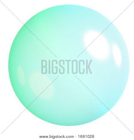 Shiny Green Web Icon