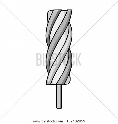 Ice lolly icon in monochrome design isolated on white background. Ice cream symbol stock vector illustration.