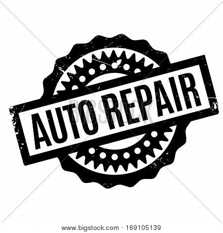 Auto Repair rubber stamp. Grunge design with dust scratches. Effects can be easily removed for a clean, crisp look. Color is easily changed.