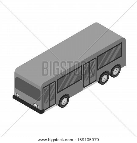 Bus icon in monochrome design isolated on white background. Transportation symbol stock vector illustration.