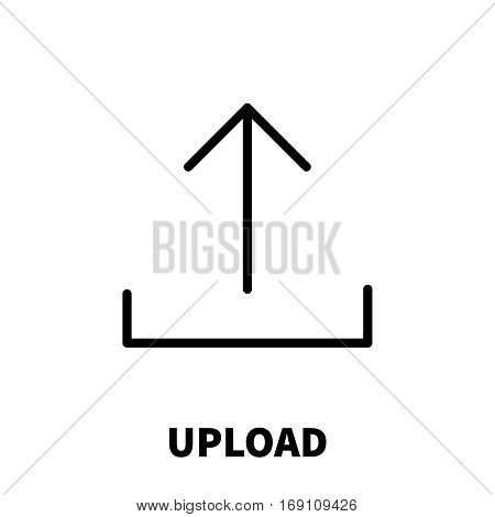 Upload icon or logo in modern line style. High quality black outline pictogram for web site design and mobile apps. Vector illustration on a white background.