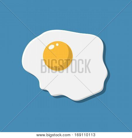 Healthy nutritious breakfast. Fried egg. Scrambled egg. vector illustration in flat style
