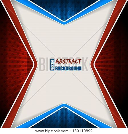 Abstract red blue brochure design with stripes and stars