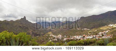 central Gran Canaria in January overcast day in Caldera deTejeda