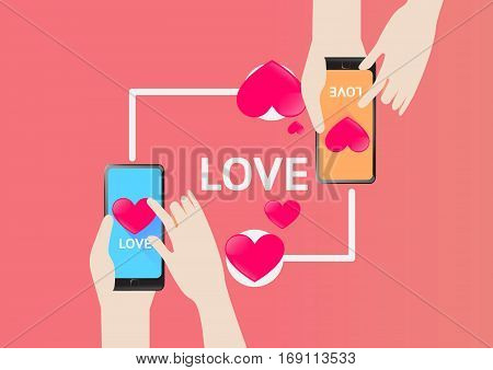 Vector Design for Love Send sms in valentine day fail in love