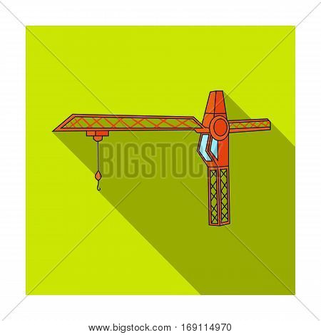 Building crane icon in flat design isolated on white background. Architect symbol stock vector illustration.