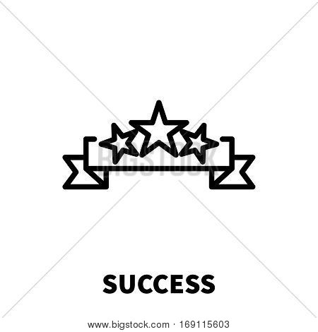 Success icon or logo in modern line style. High quality black outline pictogram for web site design and mobile apps. Vector illustration on a white background.