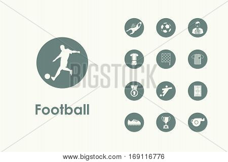 It is a set of football simple web icons