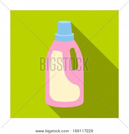 Laundry detergent icon in flat design isolated on white background. Cleaning symbol stock vector illustration.