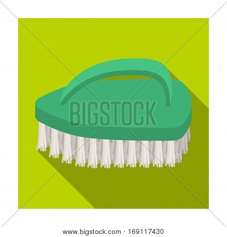 Cleaning brush icon in flat design isolated on white background. Cleaning symbol stock vector illustration.
