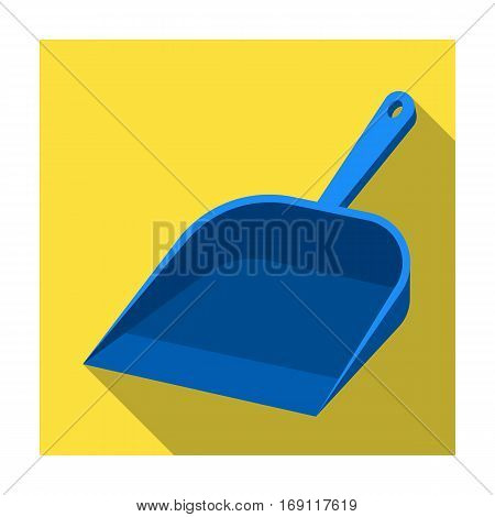 Dustpan icon in flat design isolated on white background. Cleaning symbol stock vector illustration.
