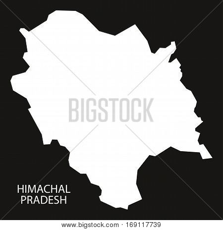 Himachal Pradesh India Map Black Inverted