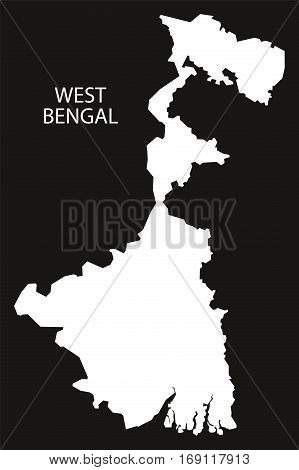 West Bengal India Map Black Inverted