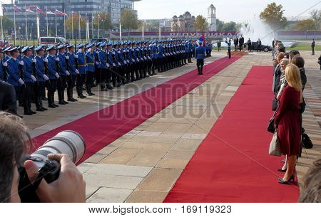 Belgrade, Serbia. October 24Th 2016 - Slovenia Prime Minister Miro Cerar In Official Visit To Serbia