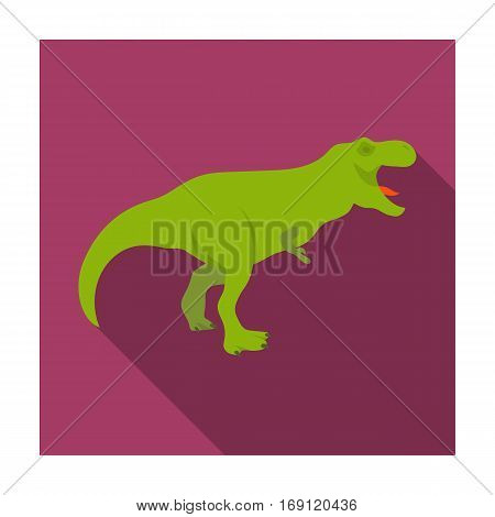 Dinosaur Tyrannosaurus icon in flat design isolated on white background. Dinosaurs and prehistoric symbol stock vector illustration.