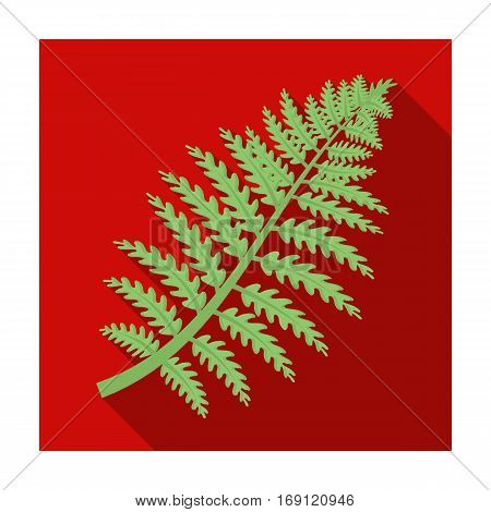 Prehistoric plant icon in flat design isolated on white background. Dinosaurs and prehistoric symbol stock vector illustration.