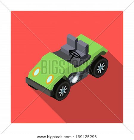 Golf cart icon in flat design isolated on white background. Transportation symbol stock vector illustration.