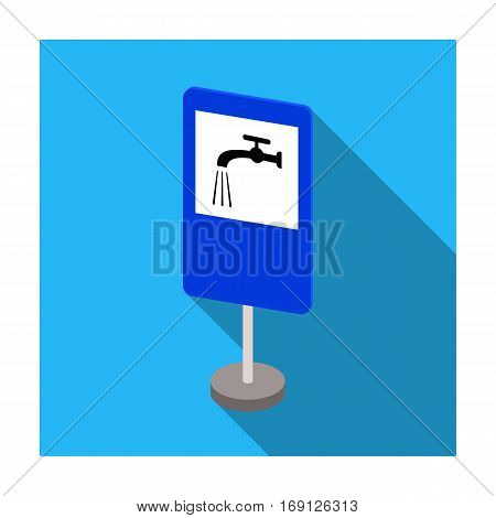 Guide road sign icon in flat design isolated on white background. Road signs symbol stock vector illustration.